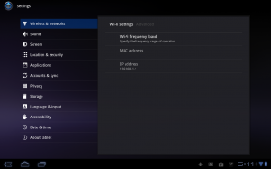 Motorola Android Xoom Network Settings Advanced view